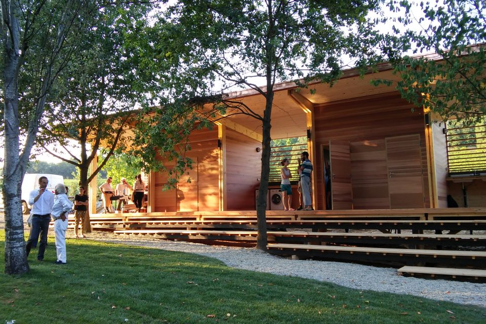 Leap glamping clubhouse inauguration