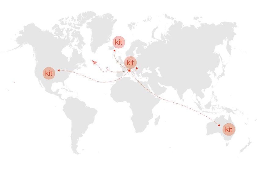Leap shipping all over the world